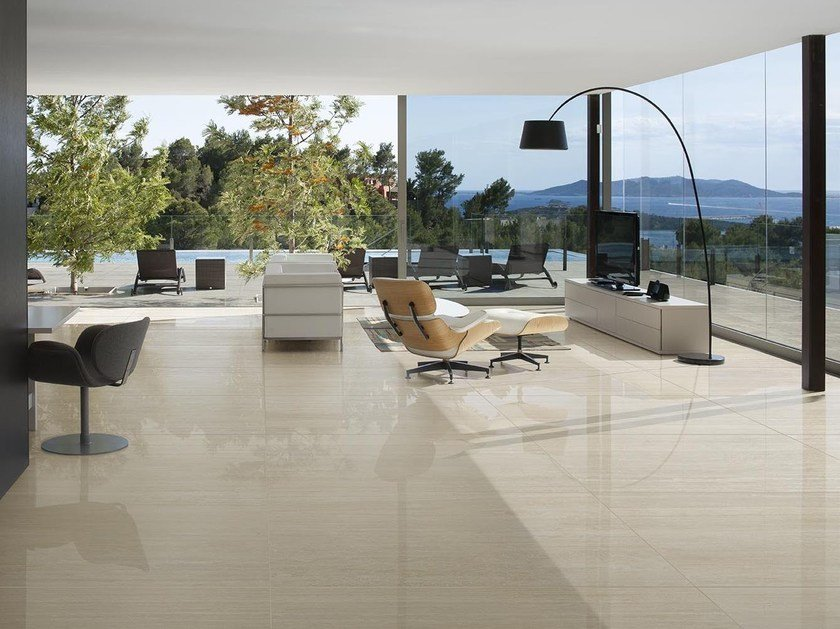 Porcelain stoneware wall/floor tiles with stone effect TALE SILVER CONTRO by Ceramiche Caesar