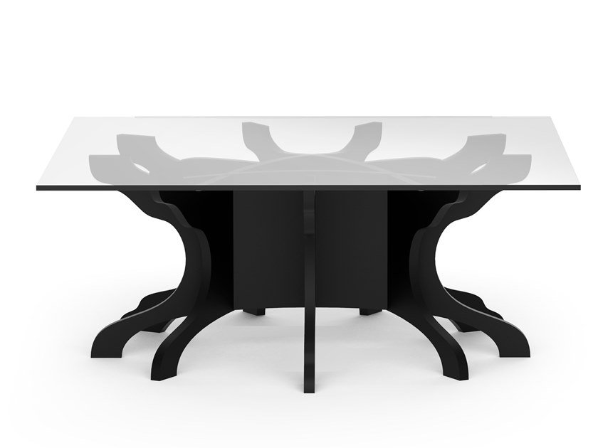 Low square birch coffee table TALE | Square coffee table by ALBEDO