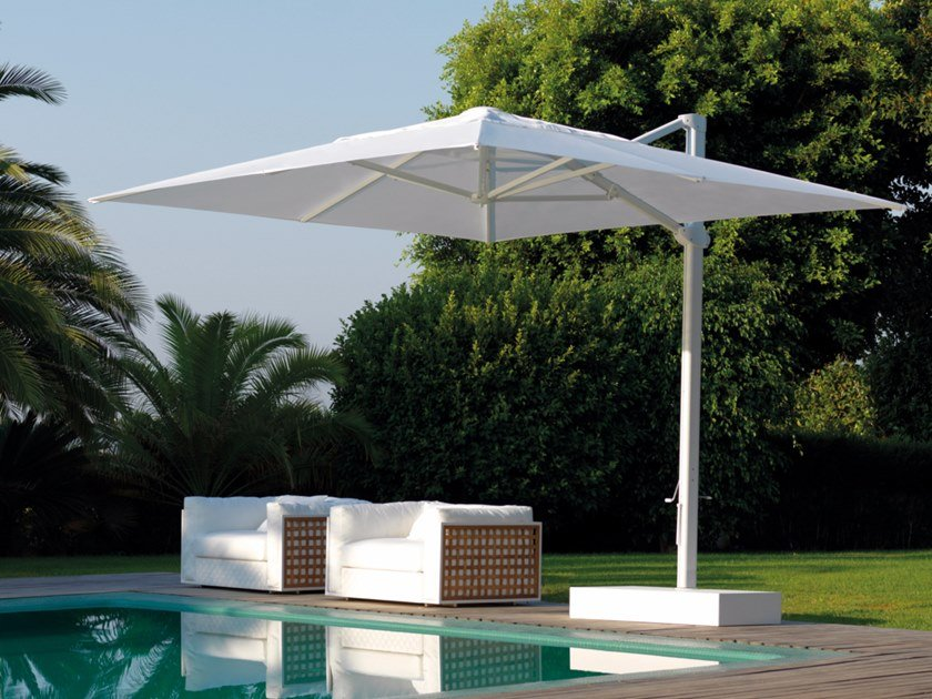 Square offset Garden umbrella TALENTI - ATHENA by Archiproducts.com