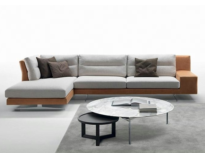 Fabric sofa with chaise longue TALETE   Sofa with chaise longue by Marac