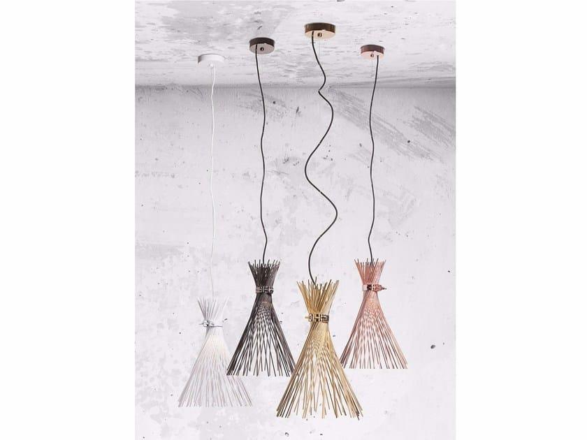 Lampada a sospensione a luce diretta in acciaio TALETE by Lucente