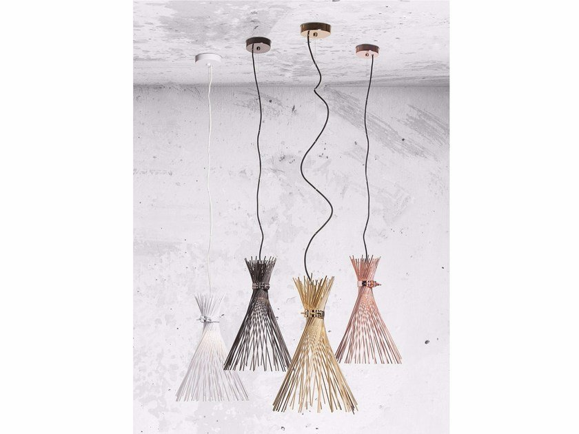 Direct light steel pendant lamp TALETE by Lucente