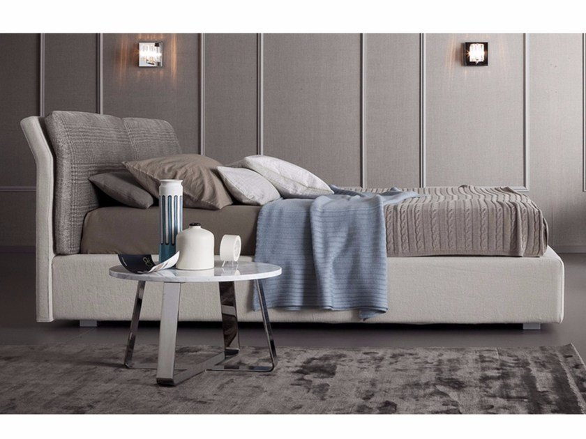 Fabric bed with removable cover TALIA by Chaarme Letti
