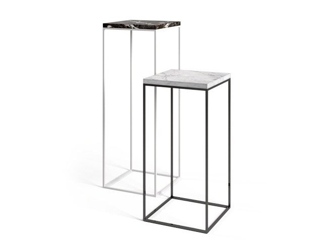 Painted metal side table TALINO by Filodesign
