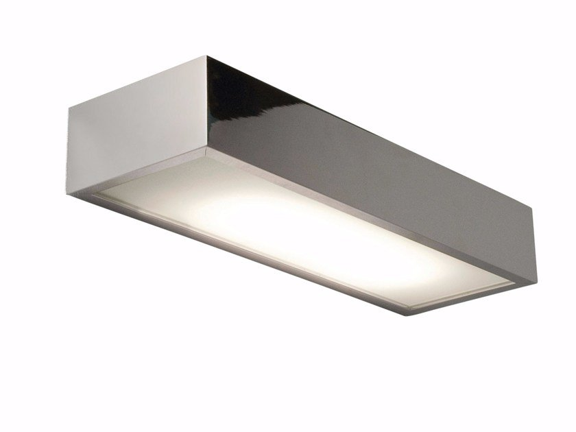 Contemporary style direct-indirect light fluorescent aluminium wall lamp for bathroom TALLIN by Astro Lighting