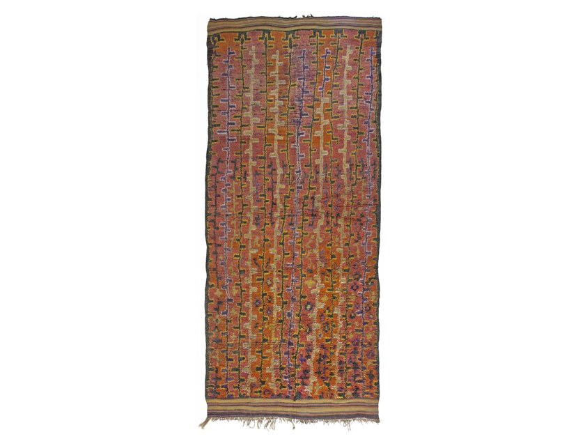Patterned rectangular wool rug TALSENT TAA713BE by AFOLKI