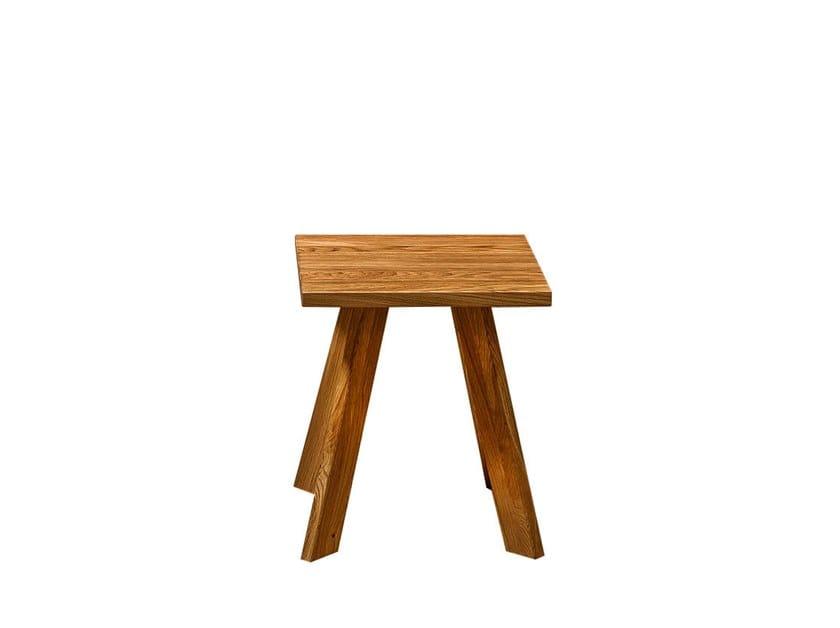 Sgabello basso in legno massello talus sgabello quadrato by