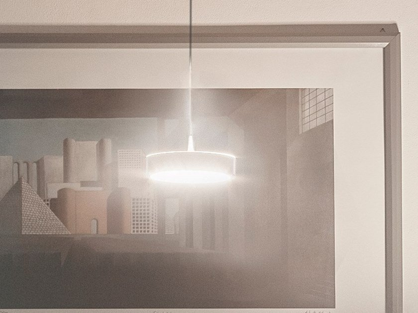 LED direct-indirect light steel pendant lamp TAMBÙ | Pendant lamp by Firmamento Milano