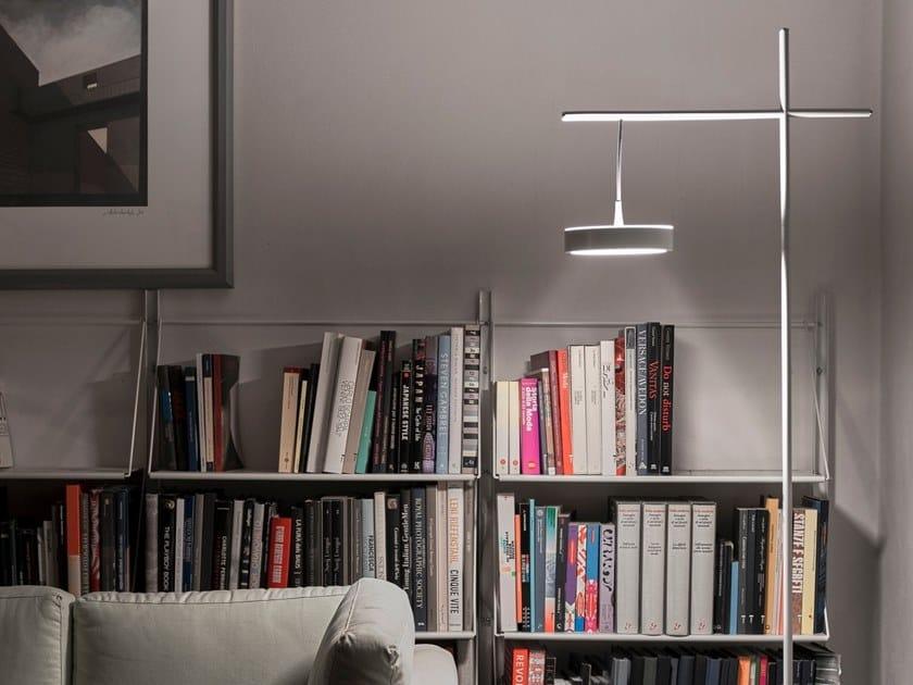 Lampada da terra a LED da lettura in acciaio TAMBÙ   Lampada da terra da lettura by Firmamento Milano
