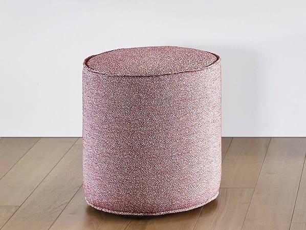 Upholstered round pouf TAMBURELLO by Novamobili