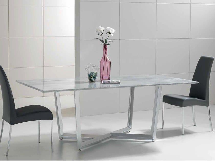 Rectangular marble table TAMGRAM by International Marmi