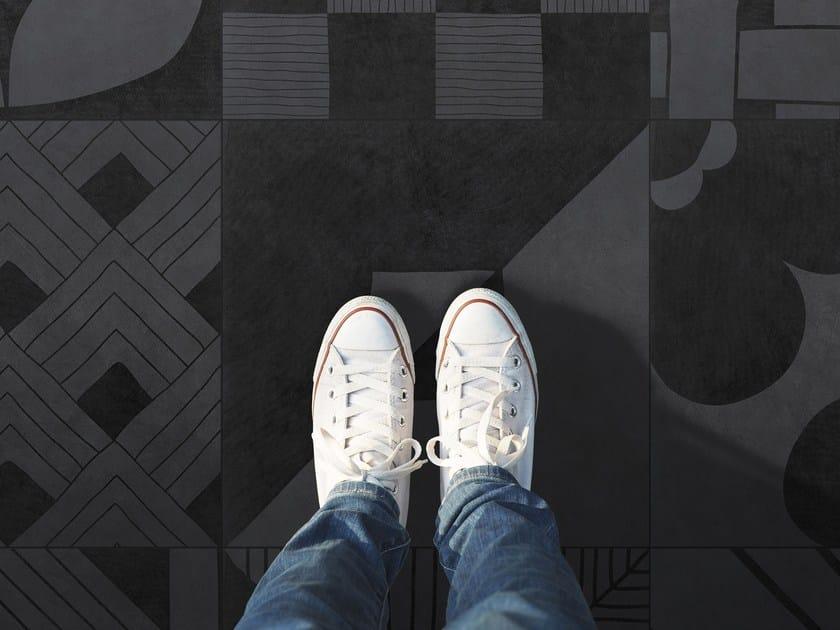 Pavimento in gres porcellanato smaltato TANGLE GREY | Pavimento by ORNAMENTA