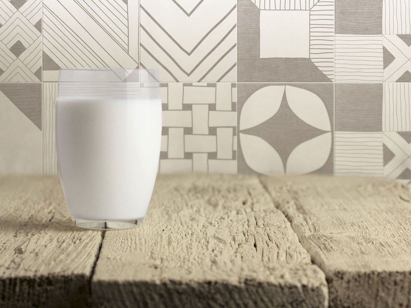 Indoor glazed stoneware wall tiles TANGLE GREY | Wall tiles by ORNAMENTA