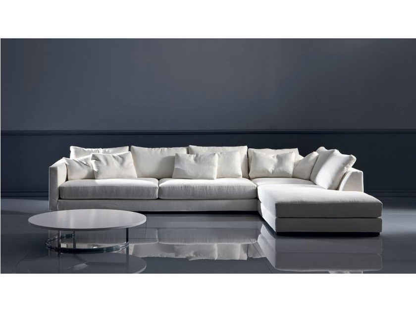 Fabric sofa with chaise longue TANGO | Sofa with chaise longue by Marac