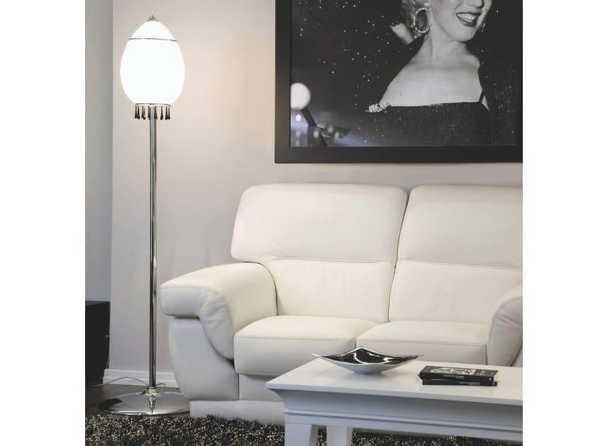 Direct light glass floor lamp TANGO | Floor lamp by Aiardini