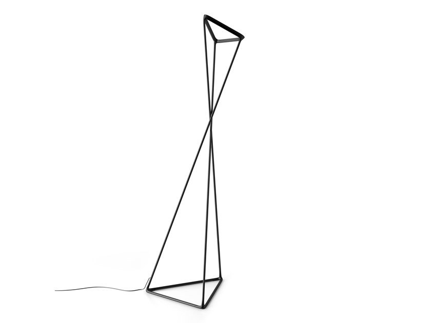 LED indirect light aluminium floor lamp TANGO by LUCEPLAN