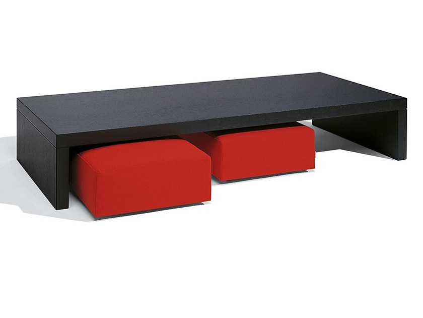 Rectangular oak coffee table for living room XL | Coffee table by Felicerossi