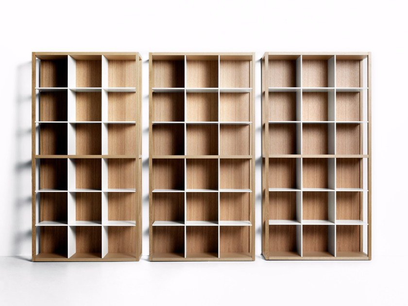 Freestanding sectional modular bookcase TANI MOTO by DE PADOVA