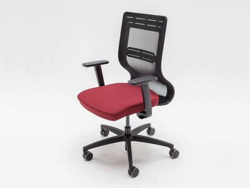 Sedia ufficio operativa con braccioli con ruote tanya sedia