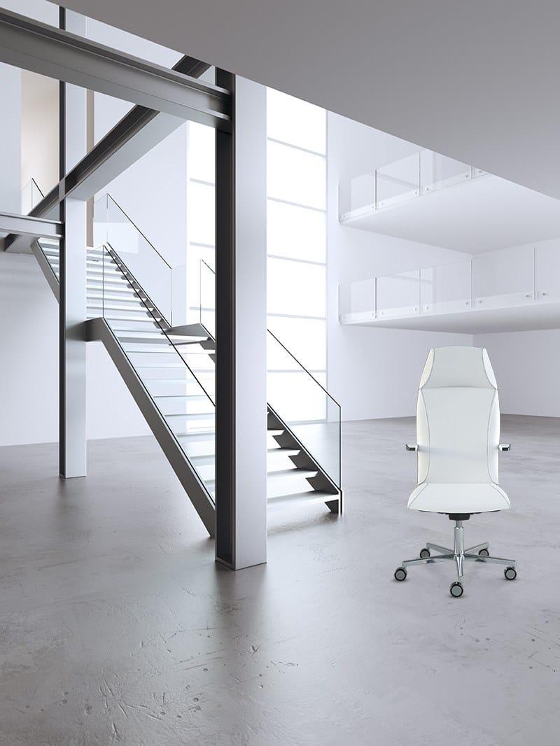 TAO   Poltrona ufficio direzionale con schienale alto TAO Poltrona ufficio direzionale con schienale alto - Poltrona direzionale alta, movimento syncro, autopesante, comfort, elevazione a gas