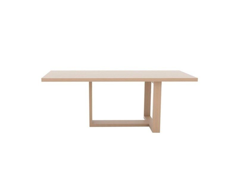 Rectangular oak dining table TAO ME3110 / 11 / 12 / 14 / 15 by Andreu World