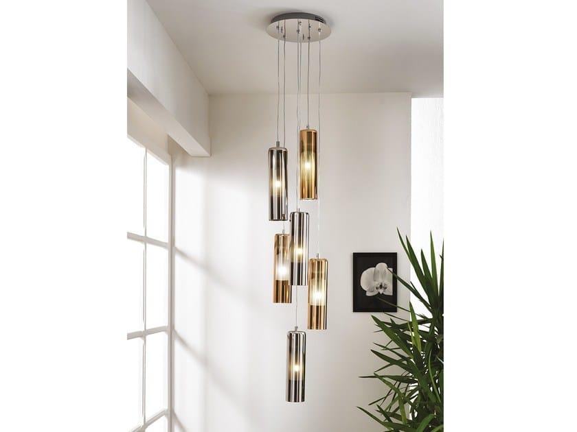 Lampada a sospensione in vetro borosilicato metallizzato TAO | Lampada a sospensione by Cangini & Tucci