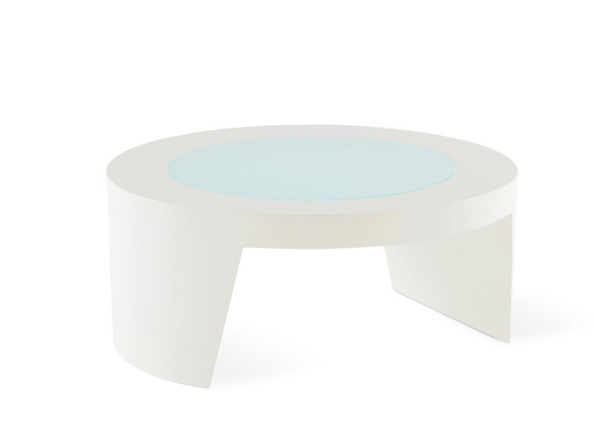 Round Low Polyethylene Coffee Table Tao By Slide Design Guglielmo Berchicci