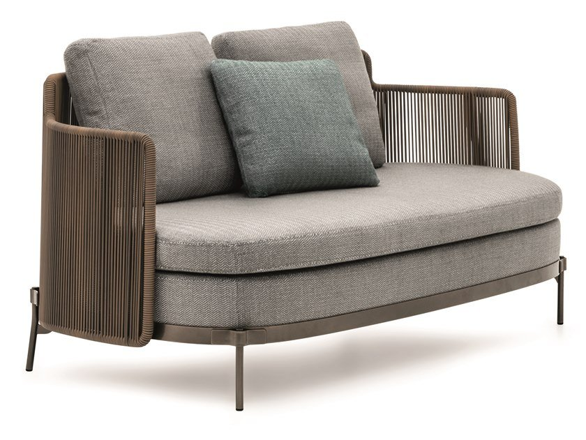 TAPE CORD OUTDOOR | 2 seater garden sofa By Minotti design Nendo