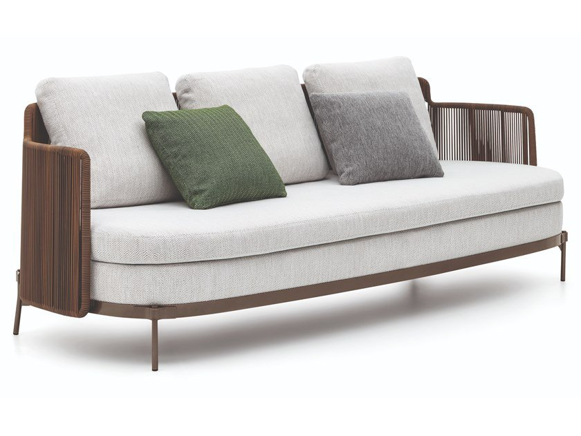 Tape Cord Outdoor 3 Seater Garden Sofa By Minotti Design Nendo