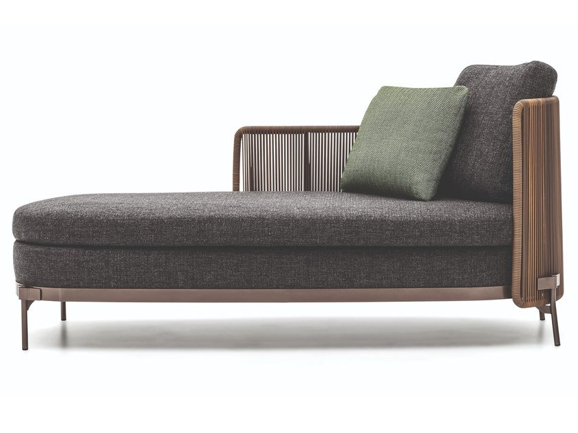 Fabric garden daybed TAPE CORD OUTDOOR | Garden daybed by Minotti