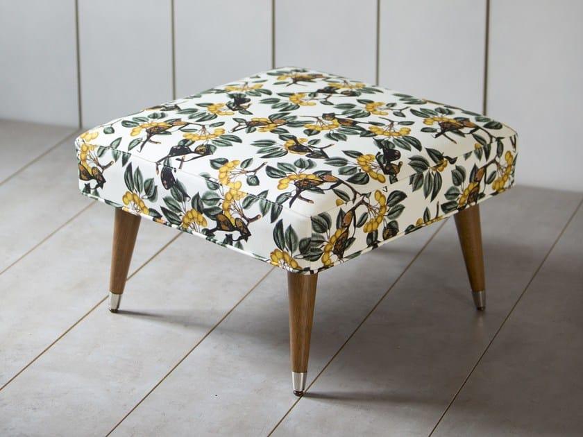 Upholstered fabric pouf TARABIZA by Kann Design