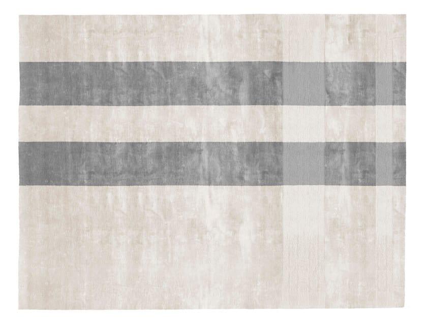 Rectangular silk rug TARTAN by GIORGETTI