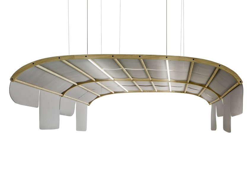 Hanging acoustic panel with Integrated Lighting TARTANA | Hanging acoustic panel with Integrated Lighting by Sancal