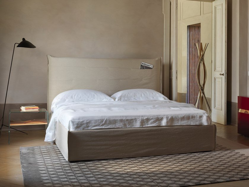 Storage bed with storage headboard TASCA by Casamania & Horm