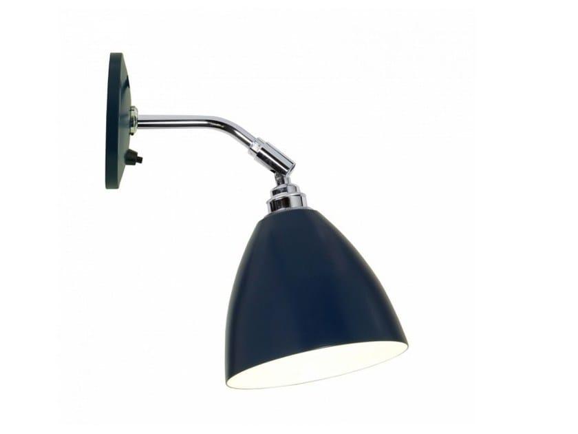 Lampada da parete orientabile in alluminio con dimmer task