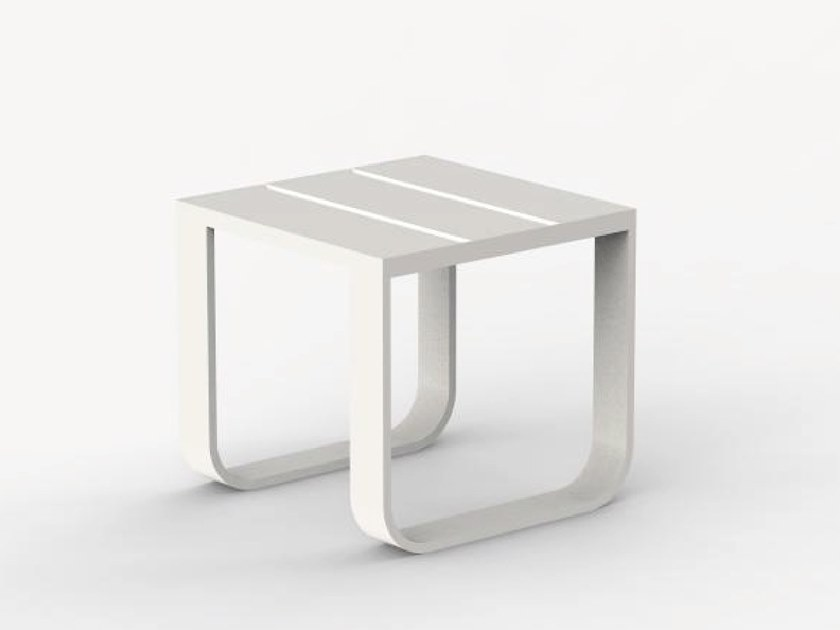 Sled base aluminium garden side table TATA by Ciela Mare