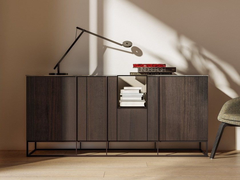 Wooden sideboard with doors TATE | Sideboard by JESSE