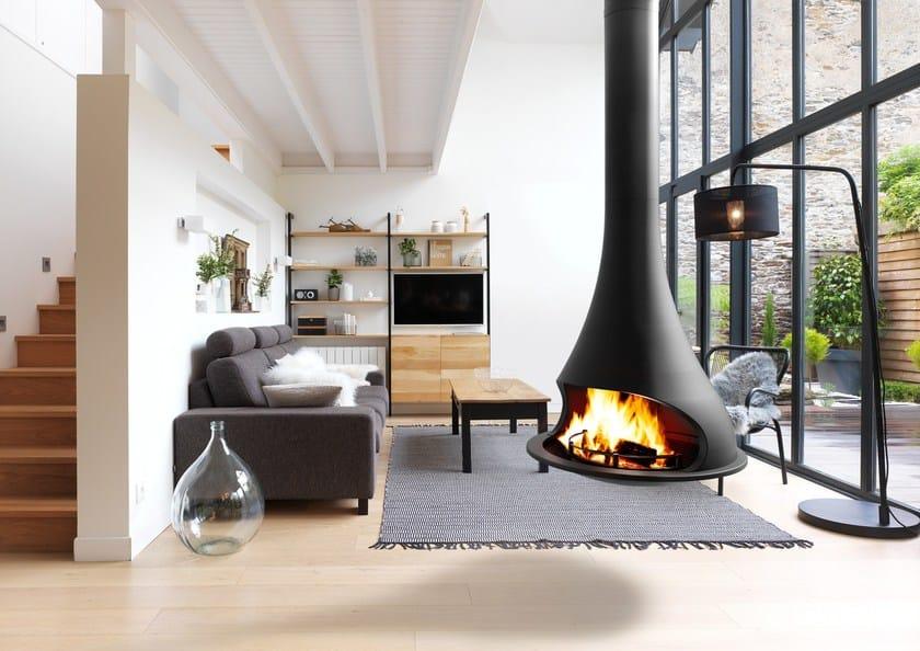 Open hanging fireplace TATIANA 997 by JC Bordelet