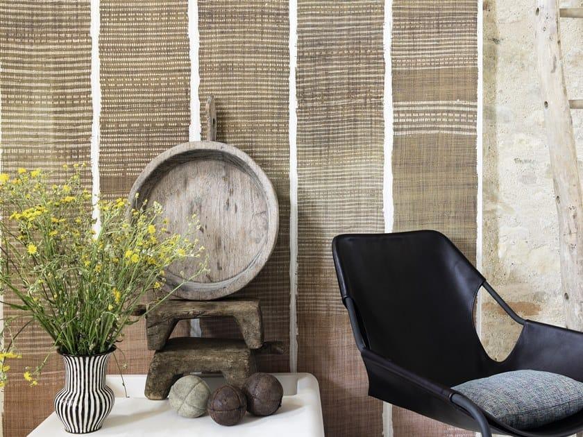 Striped panoramic vinyl wallpaper TATOO by Élitis