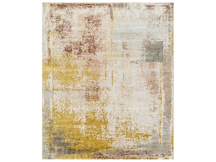 Handmade rectangular rug TATTVAM VIBE SRB-9003 White/Classic Gray by Jaipur Rugs