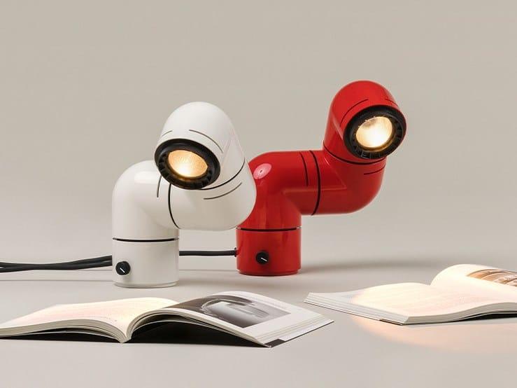 Lampada da scrivania a LED orientabile in ABS TATU | Lampada da scrivania by Santa & Cole