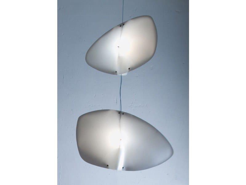 Compact fluorescent polypropylene pendant lamp TAVOLA by OCTAVIO AMADO