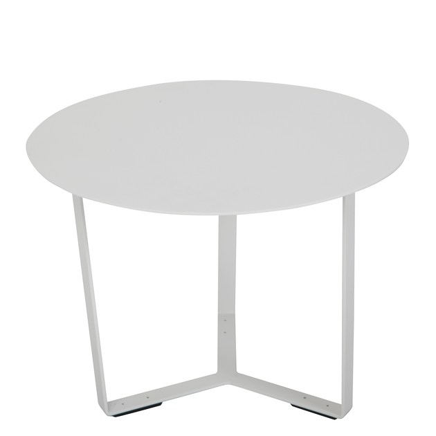 Low oval aluminium garden side table Wave by Mediterraneo by GPB