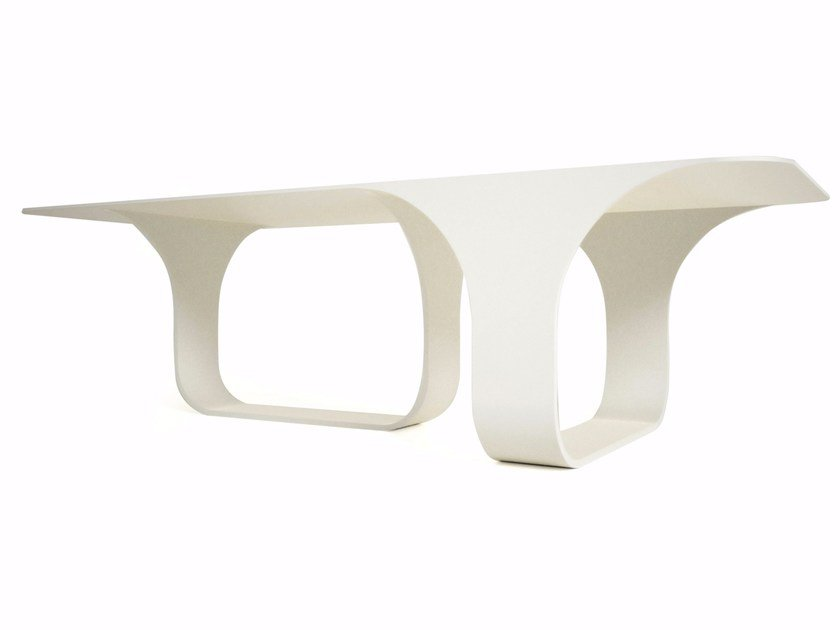Lacquered rectangular Adamantx® table 70S by ZAD ITALY