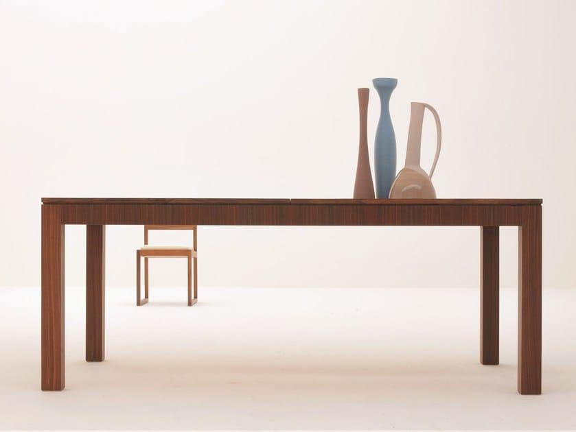 Extending rectangular walnut table '900 SCACCHI   Walnut table by Morelato