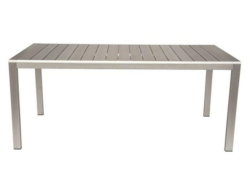 Rectangular Polywood® garden table cassia by Mediterraneo by GPB