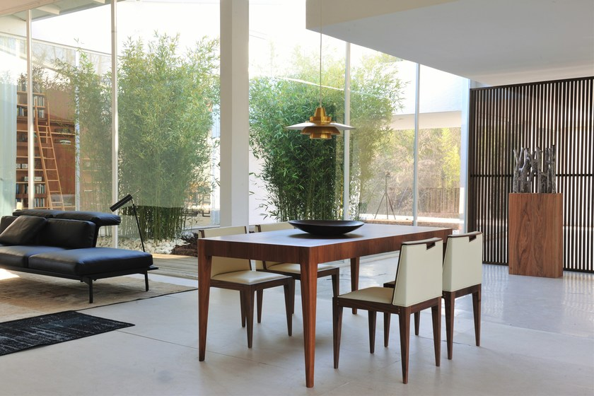Extending rectangular walnut table with drawers MALIBU' | Table by Morelato