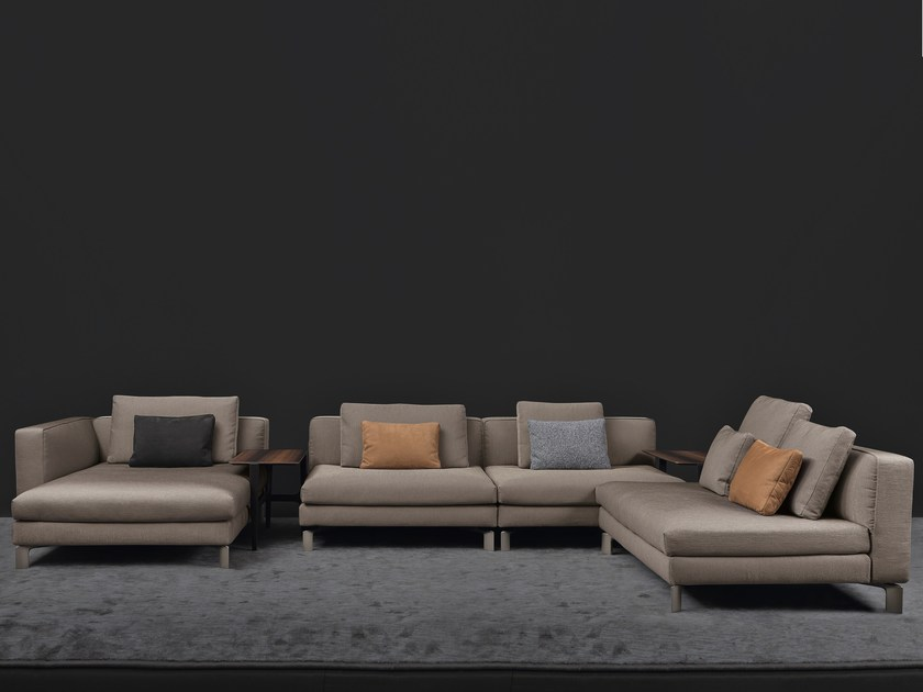 Sectional sofa with removable cover TAY   Sectional sofa by Flou