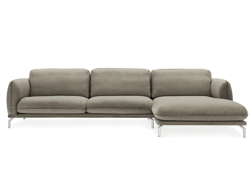 Fabric sofa with chaise longue TAYLOR by Calligaris