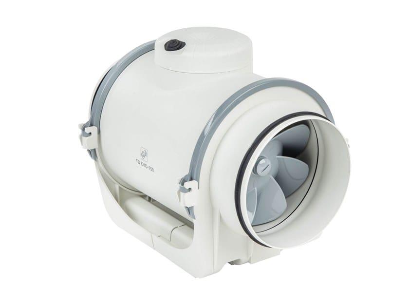 Ventilatori elicocentrifughi in-line per condotti circolari TD-EVO by S&P Italia
